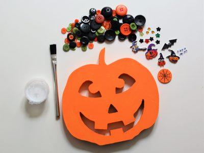 Scary face Pumpkin Craft Kit