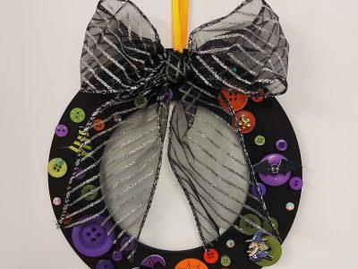 Halloween Button Wreath Craft Kit