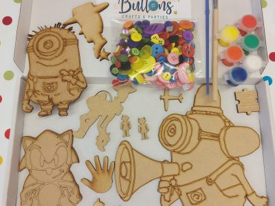 Wooden Shapes to Paint and Decorate Craft Kit