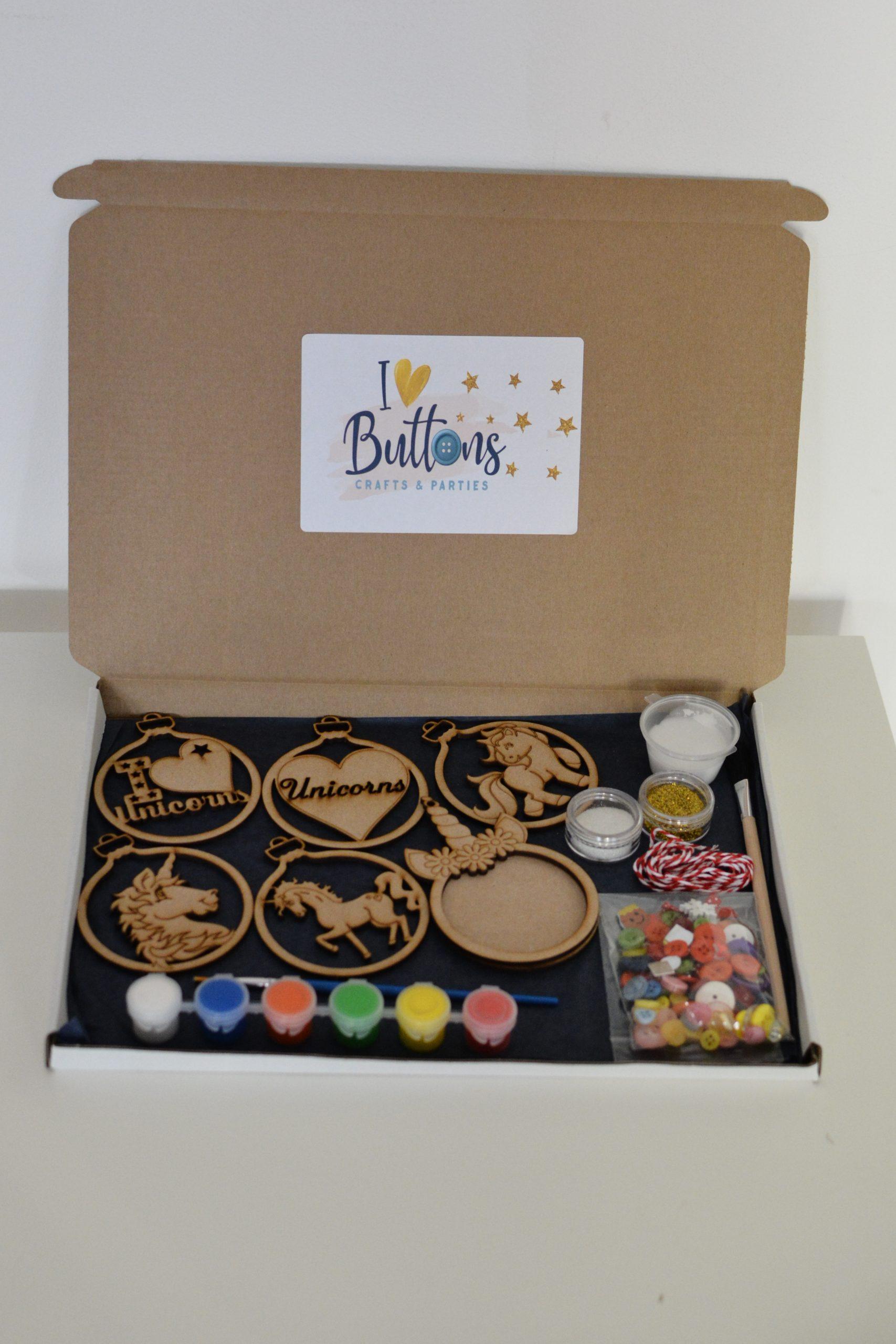 Unicorn Christmas baubles Set Craft Kit Isle of Wight