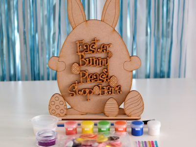 """Easter Bunny Please Stop Here"" Craft Kit"