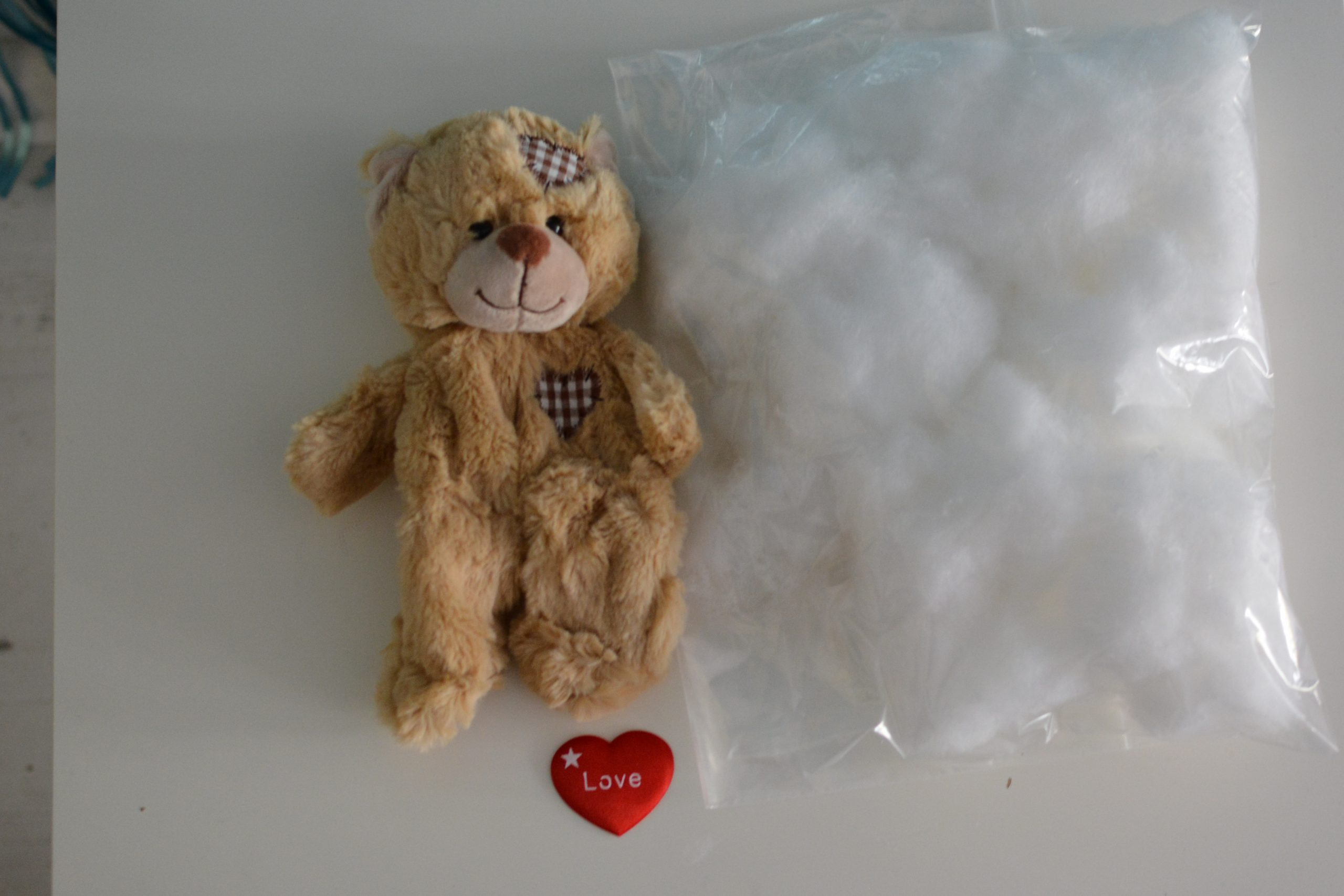 """Create your own """"Patch"""" Teddy Bear Kit (No Sew)"""