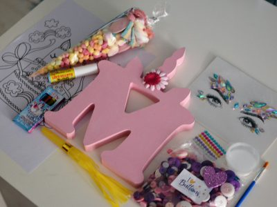 Free Standing Unicorn Letter Virtual Party Craft Kits x 8 Isle of Wight